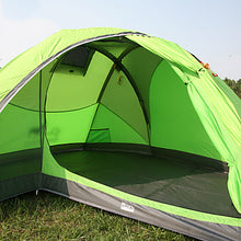 Load image into Gallery viewer, LONGSINGER 2 person Family Tent Outdoor Breathability YKK Zipper Double Layered Poled Camping Tent 2000-3000 mm for Camping / Hiking / Caving Traveling Nylon 225*135/203/95*107 220*130/198/90*102 cm