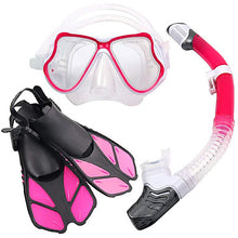 Load image into Gallery viewer, Snorkel Mask Underwater Two-Window - Swimming Silicone - For Kids Black / Leak-Proof / Anti Fog