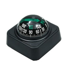 Load image into Gallery viewer, Large Car Compass with Surface Mount - Black