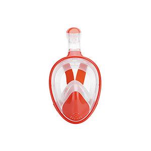 Snorkel Mask Underwater Single Window - Swimming Silicone - For Adults Orange / 180 Degree View / Leak-Proof / Anti Fog