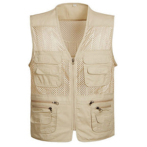 Men's Vest / Gilet Windproof Breathability Heat Retaining Fishing Daily Wear / Cotton