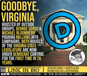 VIRGINIA NOW UNDER COMPLETE DEMOCRAT CONTROL (#56)