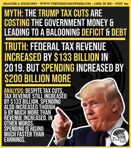 TAX REVENUES INCREASE... BUT SPENDING INCREASES BY SO MUCH MORE (#62)