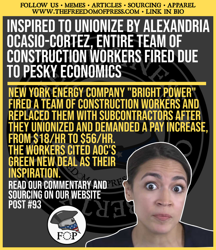 CONSTRUCTION WORKERS FIRED AFTER AOC-INSPIRED UNION FORMATION- DEMANDED PAY RAISE FROM $18/HR TO $56/HR (#93)