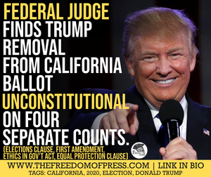 UNCONSTITUTIONAL CALIFORNIA