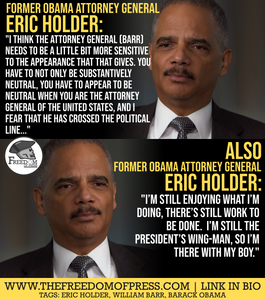 ERIC HOLDER: SELF-AWARENESS RATING - 0