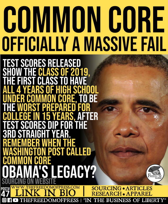 COMMON CORE: OFFICIALLY A MASSIVE FAIL (#47)