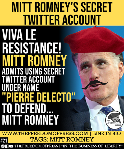 Pierro Delecto Mitt Romney Secret Twitter Account