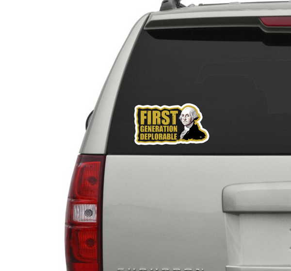 FIRST GENERATION DEPLORABLE VINYL DECAL