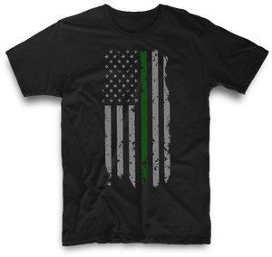 THIN GREEN LINE HANGING AMERICAN FLAG | UNISEX