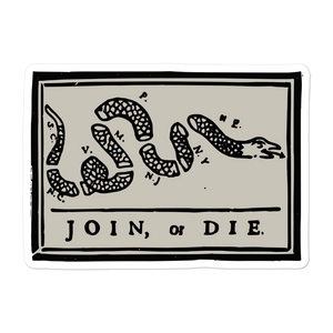JOINE OR DIE VINYL DECAL