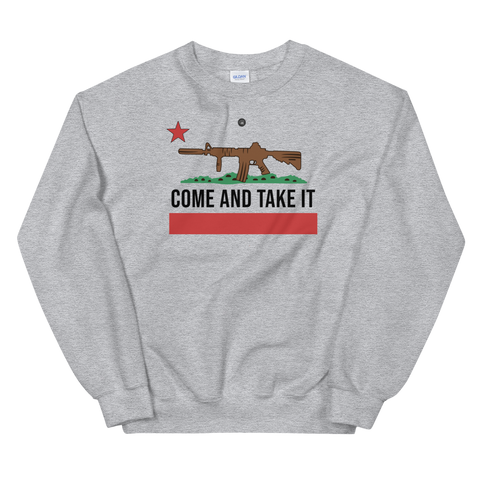 COME AND TAKE IT CALIFORNIA FLAG SWEATSHIRT | UNISEX