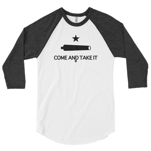 COME AND TAKE IT GONZALES FLAG 3/4 SLEEVE RAGLAN | UNISEX