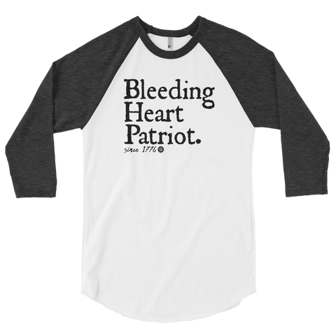BLEEDING HEART PATRIOT 3/4 SLEEVE RAGLAN | UNISEX