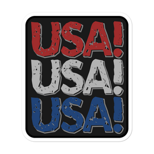 RED WHITE AND BLUE USA! VINYL DECAL