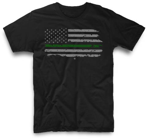 THIN GREEN LINE AMERICAN FLAG | UNISEX
