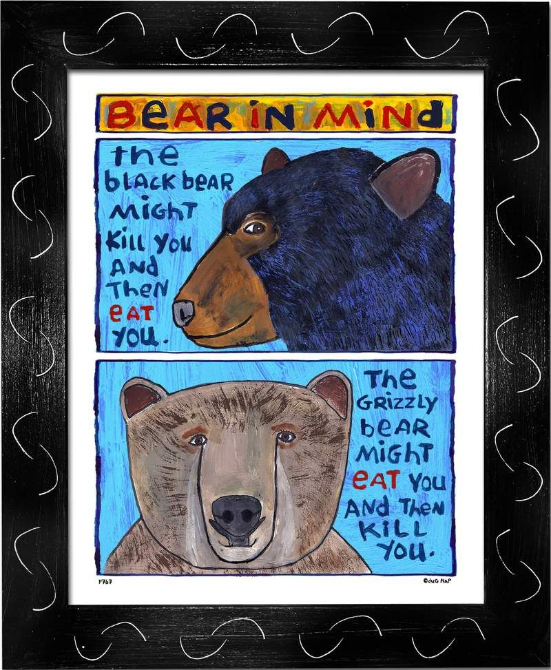 P767 - Bear In Mind - dug Nap Art