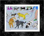 P1001 - Dog Day Afternoon Framed Print / Small (8.5 X 11) Black Art