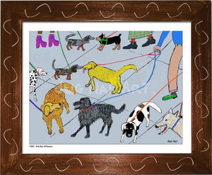 P1001 - Dog Day Afternoon Framed Print / Small (8.5 X 11) Brown Art