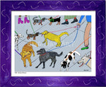 P1001 - Dog Day Afternoon Framed Print / Small (8.5 X 11) Purple Art