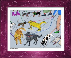 P1001 - Dog Day Afternoon Framed Print / Small (8.5 X 11) Violet Art