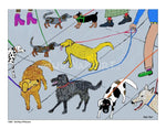 P1001 - Dog Day Afternoon Unframed Print / Small (8.5 X 11) No Frame Art
