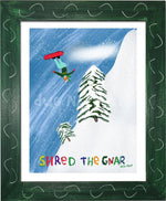 P1022 Shred The Gnar Framed Print / Small (8.5 X 11) Green Art