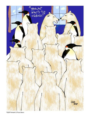 P1027 - Penguins & Polar Bears - dug Nap Art