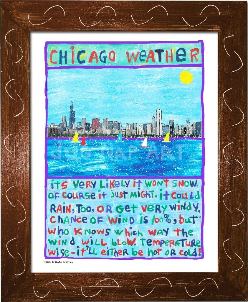 P1038 - Chicago Weather - dug Nap Art