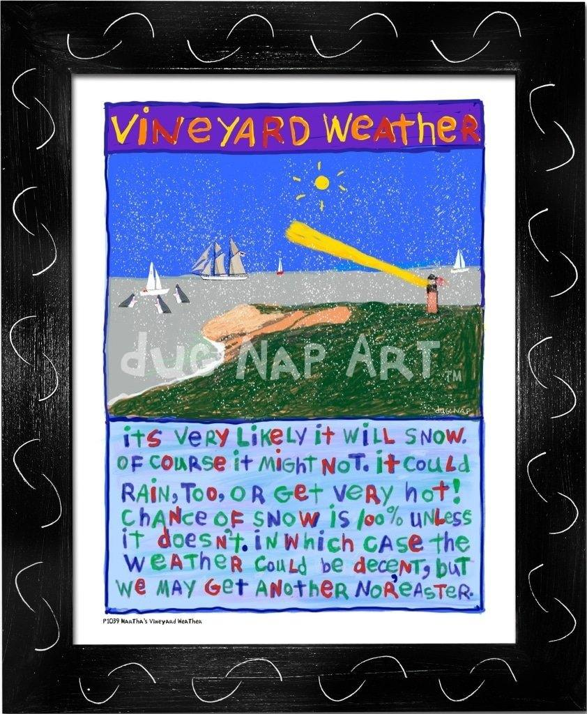 P1039 - Vineyard Weather Framed Print / Small (8.5 X 11) Black Art