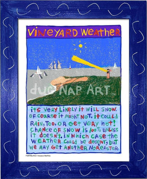 P1039 - Vineyard Weather Framed Print / Small (8.5 X 11) Blue Art
