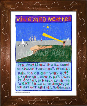 P1039 - Vineyard Weather Framed Print / Small (8.5 X 11) Brown Art