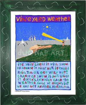 P1039 - Vineyard Weather Framed Print / Small (8.5 X 11) Green Art