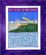 P1039 - Vineyard Weather Framed Print / Small (8.5 X 11) Purple Art