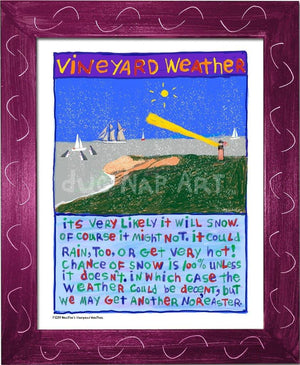 P1039 - Vineyard Weather Framed Print / Small (8.5 X 11) Violet Art