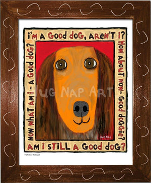 P1041 Good Dachshund Framed Print / Small (8.5 X 11) Brown Art