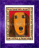 P1041 Good Dachshund Framed Print / Small (8.5 X 11) Purple Art