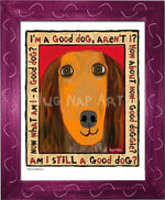 P1041 Good Dachshund Framed Print / Small (8.5 X 11) Violet Art