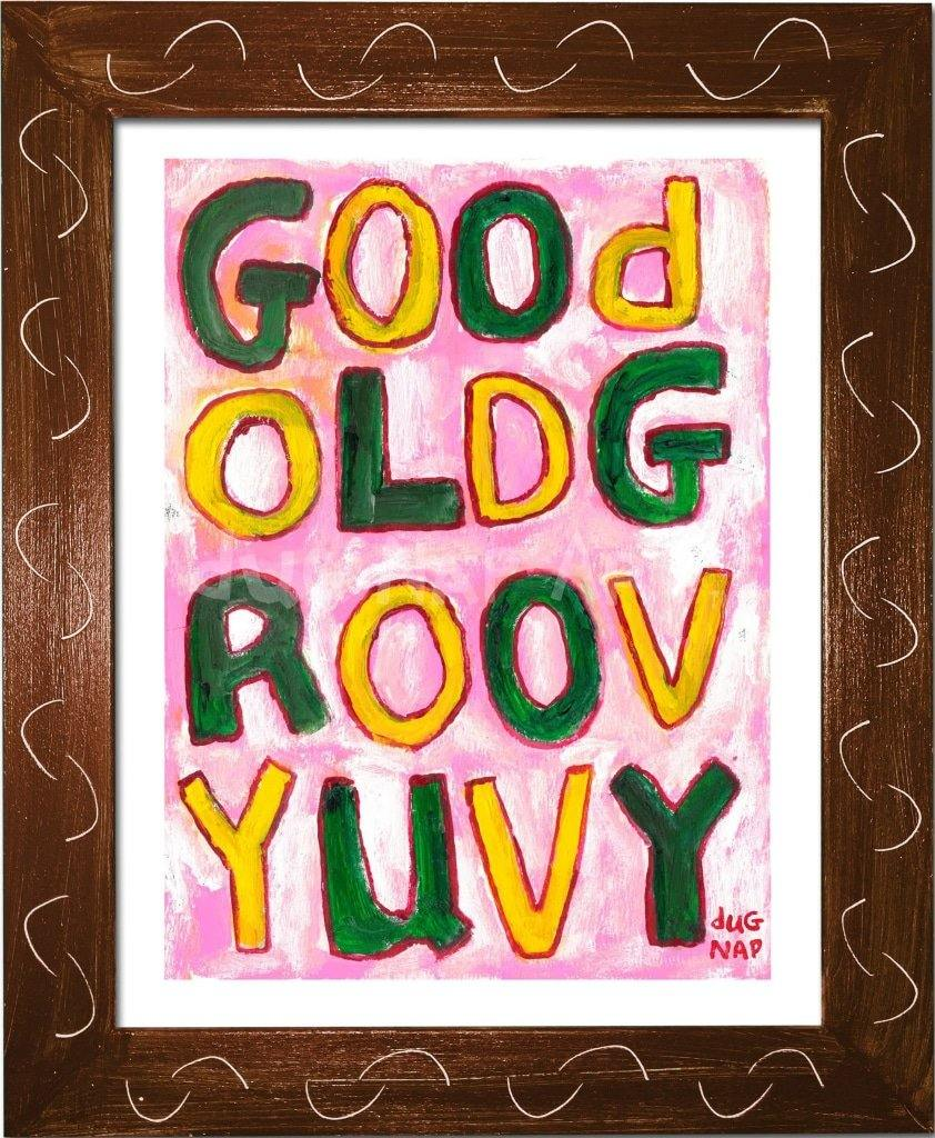 P1046 - Groovy Uvy Framed Print / Small (8.5 X 11) Brown Art