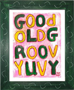 P1046 - Groovy Uvy Framed Print / Small (8.5 X 11) Green Art