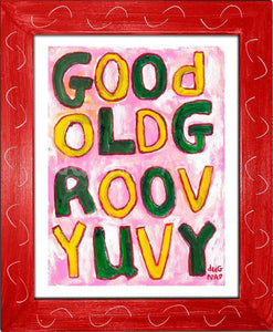 P1046 - Groovy Uvy Framed Print / Small (8.5 X 11) Red Art