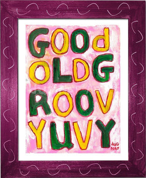 P1046 - Groovy Uvy Framed Print / Small (8.5 X 11) Violet Art