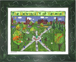P1047 - Uvm Green Framed Print / Small (8.5 X 11) Art