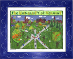 P1047 - Uvm Green Framed Print / Small (8.5 X 11) Blue Art