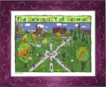 P1047 - Uvm Green Framed Print / Small (8.5 X 11) Violet Art
