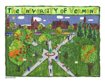 P1047 - Uvm Green Unframed Print / Big (16 X 20) No Frame Art