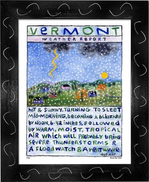 P106 - Vt Weather Report Framed Print / Small (8.5 X 11) Black Art