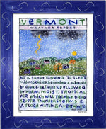 P106 - Vt Weather Report Framed Print / Small (8.5 X 11) Blue Art