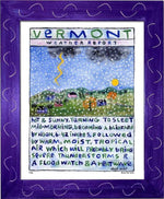 P106 - Vt Weather Report Framed Print / Small (8.5 X 11) Purple Art