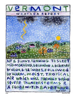 P106 - Vt Weather Report Unframed Print / Small (8.5 X 11) No Frame Art